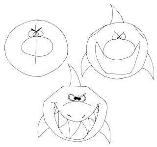 Comictier Zeichnen Lernen Hai Comic Tiere Comic Zeichnen Lernen Fische Zeichnen