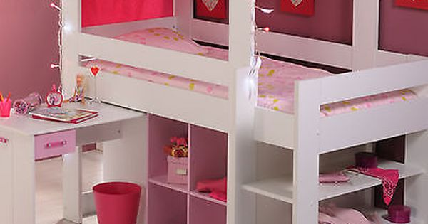 m dchen kinderbett hochbett kinder rosa spielbett kinderzimmer bett biotiful in m bel wohnen. Black Bedroom Furniture Sets. Home Design Ideas
