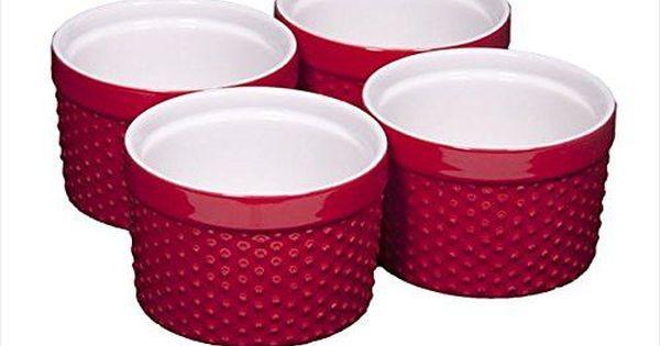 Restaurant Ceramic Stackable Baking Ramekins Condiment Sauce Cups With Scraper 3 5 Ounce 6 Pack Bone White Visit The Image Ramekins Ceramics Condiments