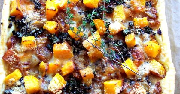 Butternut Squash Tart with Caramelized Onions and Kale ...