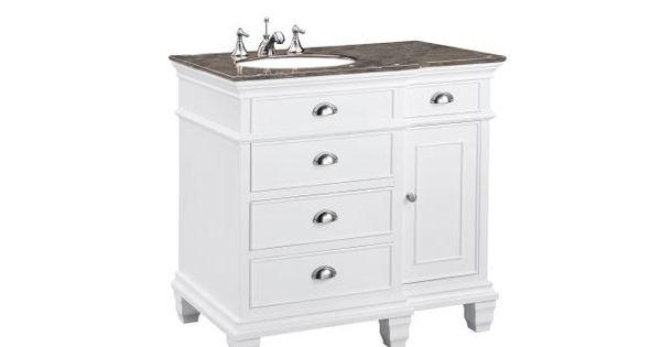 Sarah Shaker Single 36 Inch White Traditional Bathroom Vanity Ct Bathroom Makeover