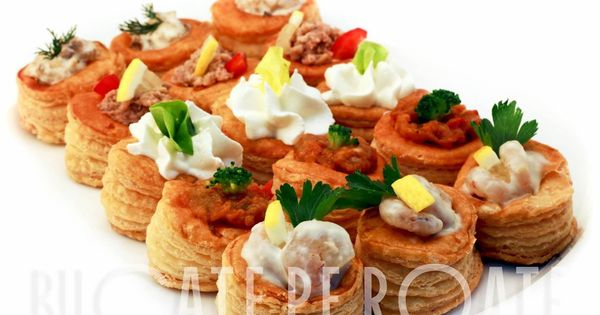 Vol au vent canapes fingerfood catering food shrimps for Canape insurance