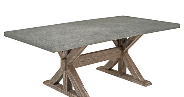 Concrete Dining Table Cement Table Rustic Chic Custom Size Woodland Creek Furniture April