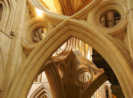 Scissors Arches, fan vaulting, Somerset, England photo by Matt Wiebe