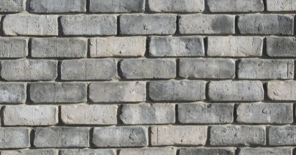 Tumbled Thin Brick Veneer Color Dark Grey Brick Cladding Brick Veneer Brick Exterior House