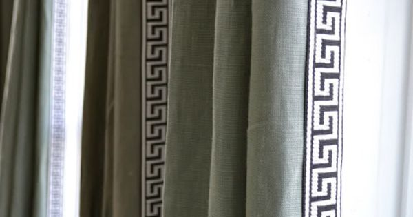 Greek Key Trim To Curtains Thinking About Greeky Key Trim For Drapes In My Office Guest Room