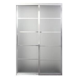 Contractors Wardrobe 60 In X 81 In Silhouette 5 Lite Bright Clear Aluminum Frame Mystique Glass Interior Sliding Door Si5 6081bc2x The Home Depot Contractors Wardrobe Sliding Doors Interior Sliding Doors