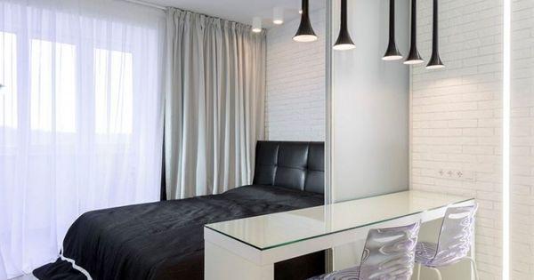 Moderne schlafzimmer schwarz weiss  moderne-schlafzimmer-schwarz-weiss-schiebetuer-home-office-trennen ...