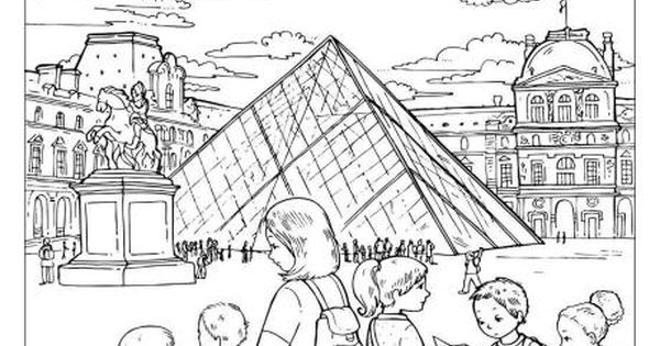 The Louvre Colouring Page Dessin Stylisme Dessin
