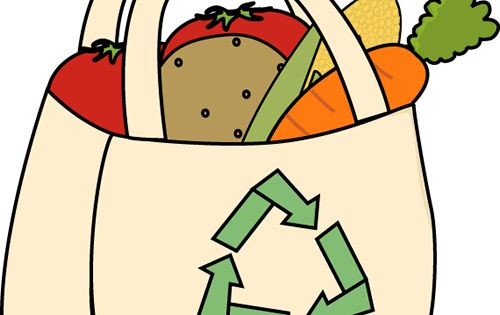 Clip Art Of Shopping Bags For Grocery Store