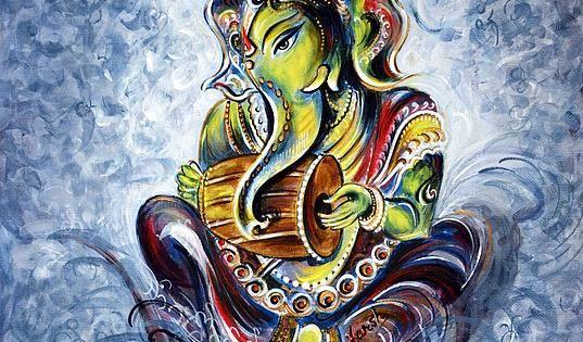 Ganesha Playing Music