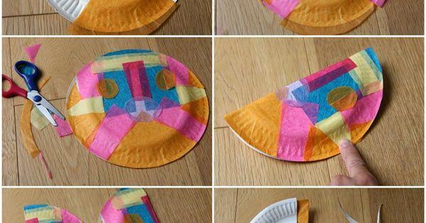 Un papillon dans une assiette en papier assiettes en papier papier de soie - Papillon en papier de soie ...