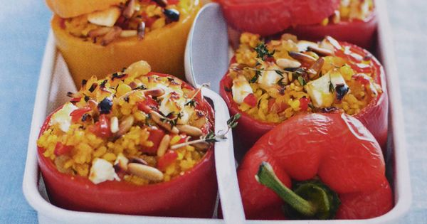 Poivrons farcis la grecque cuisiner legumes - Cuisiner le poivron vert ...
