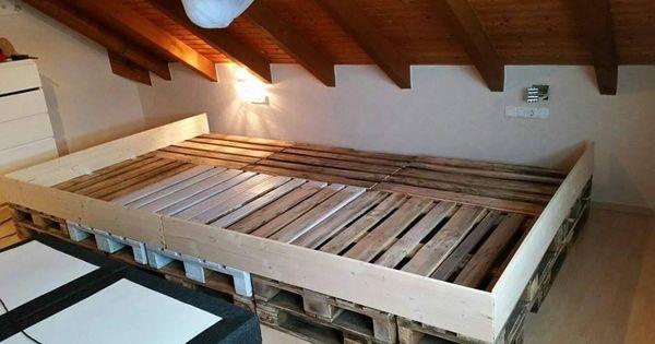 360 Cm Breites Familienbett Aus Europaletten Bauanleitung Familienbett Familien Bett Sofa Selber Bauen