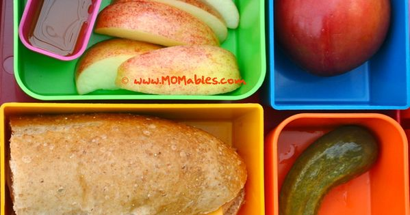 Sandwiches, Sandwich box and Apple slices on Pinterest