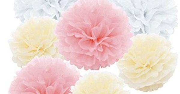 pompons en papier de soie fleur pour d coration d 39 ext rieur int rieur banquet de mariage blanc. Black Bedroom Furniture Sets. Home Design Ideas