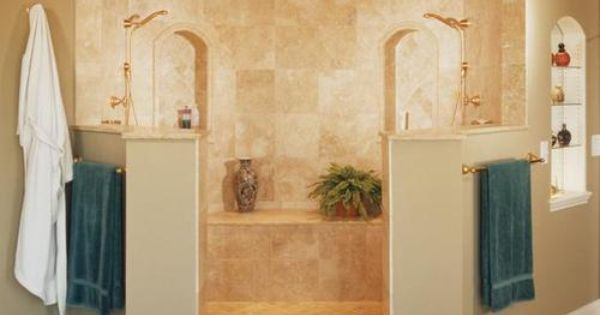 Double Shower Glass Blocks And Interiors On Pinterest