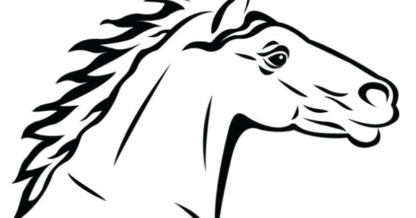 Dessin de profil d 39 un cheval colorier coloriages - Dessin de profil ...