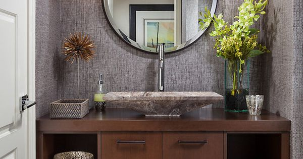 Astonishing Powder Room Basins Combined With Unique