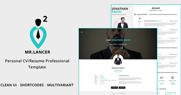 cool MrLancer two Individual CV Resume template (Resume   CV - resume template website