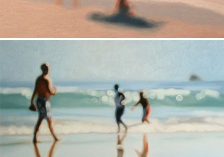 Out of Focus Oil Paintings by South African artist Philip Barlow