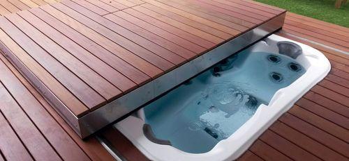 Security Sliding Deck Pool Cover Ambient 300 Egoe Hot Tub Swim
