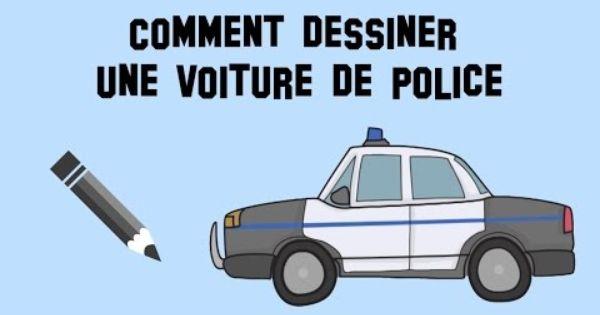 Comment dessiner une voiture de police mod le facile - Dessiner une voiture ...