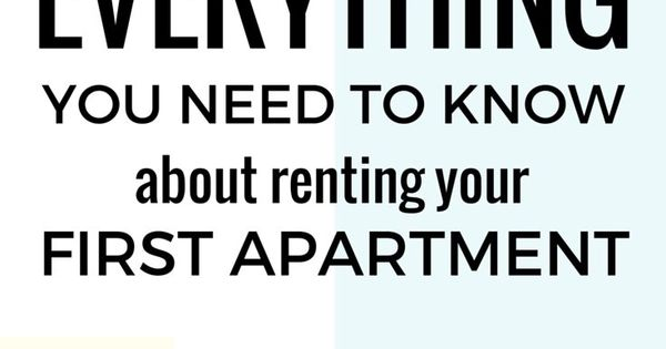 everything you need to know about renting your first apartment this article expands on. Black Bedroom Furniture Sets. Home Design Ideas