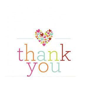 Printable Thank You Card With Hearts Printable Thank You Cards Thank You Messages Thank You Notes