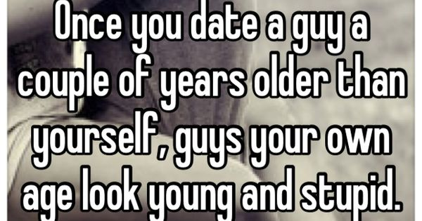 Dating a guy younger than you