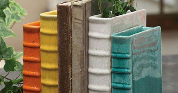 Terracotta bookend vase cer mica pinterest cer mica for Libro in ceramica
