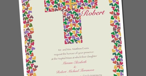 Our Invitations Christian Wedding Invitation With Cross And By