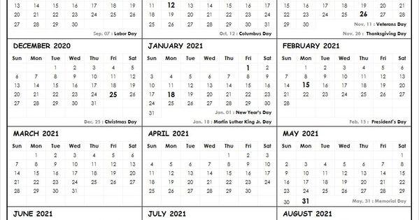 2020 2021 School Calendar Template In 2020 School Calendar Academic Calendar Calendar 2020
