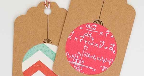 Homemade Christmas Gift Tags Day 2: Scrapbook Paper Ornament