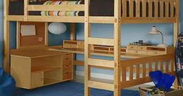 Desk Bunk Bed Combo Full Size Loft Bed W Desk Underneath