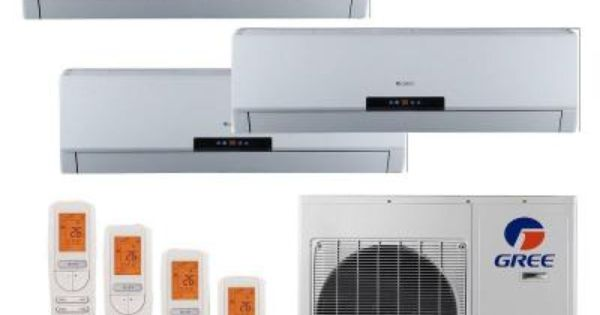 Gree Multi 21 Zone 34000 Btu 3 0 Ton Ductless Mini Split Air Conditioner With Heat Inverter Remote 230 Volt 60hz Multi36hp400 With Images Ductless Mini Split Heat Pump Ductless