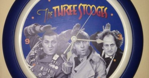 The Three Stooges 2002 Collectible Talking Wall Clock