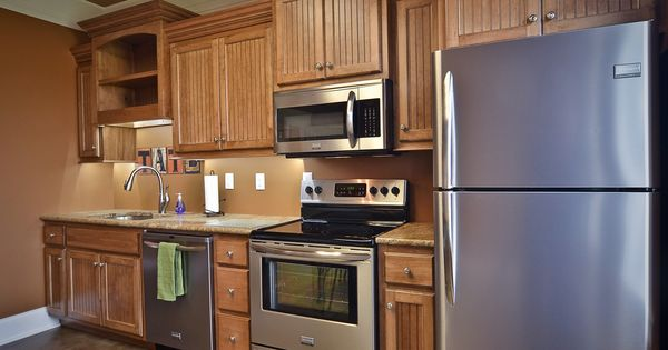 Simple Glaze Kitchen Cabinets Maple Wood With Coffee Brown