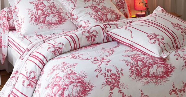 linge de lit fa on toile de jouy autres boutis pinterest linge de lit linge et lits. Black Bedroom Furniture Sets. Home Design Ideas