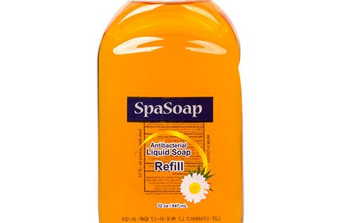 Spa Soap Antibacterial Hand Soap 32 Oz Refill Bottles Coconut