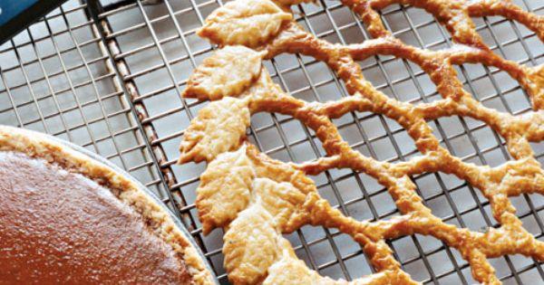 Maple Pumpkin Pie with Leaf Lattice - Martha Stewart Recipes - Great