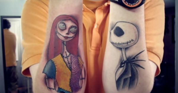 Jack and Sally tattoos