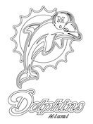 Miami Dolphins Logo Coloring Page With Images Dolphin Coloring