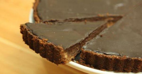 طريقة عمل تارت الشوكولاتة حلويات Chocolate Tart Dessert Recipes Desserts Food