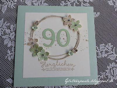 90 Geburtstag Geburtstagskarte