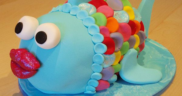 Noelles Rainbow Fish Cake idea??