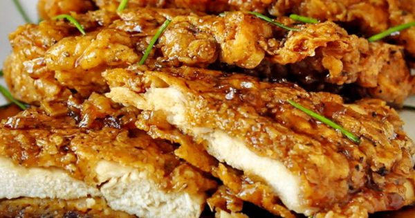 Double Crunch Honey Garlic Chicken Breasts - Honey chicken crunchy garlic... four