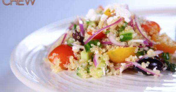 Quinoa Greek salad. Loved this recipe.