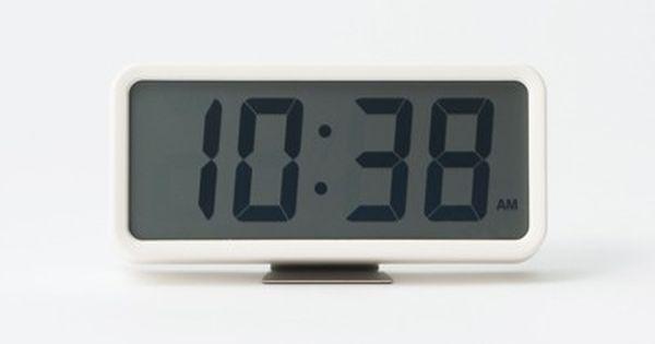 Digital Alarm Clock M White W18xl5 2xh8 8cm Alarm Clock Digital
