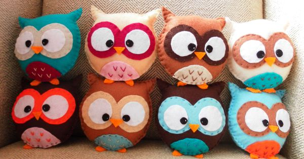 cute owl pillows
